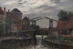 Dutch Cityscape with Bridge | Carl Skanberg | Oil Painting