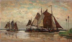 Dutch beach scene | Carl Skanberg | Oil Painting