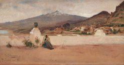 View of Taormina with Etna | Carl Skanberg | Oil Painting
