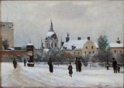 Mosebacke Square | Carl Skanberg | Oil Painting
