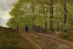 Forest landscape with woman | Carl Skanberg | Oil Painting