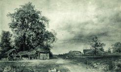 Village | Ivan Ivanovich Shishkin | Oil Painting