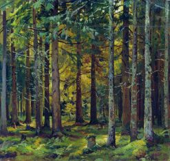 Fir Forest | Ivan Ivanovich Shishkin | Oil Painting