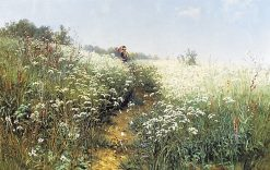 Woman at the Meadow | Ivan Ivanovich Shishkin | Oil Painting