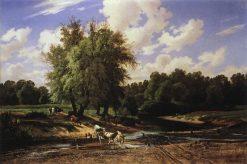 Watering Cows | Ivan Ivanovich Shishkin | Oil Painting