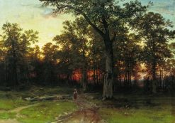 Evening in the Forest | Ivan Ivanovich Shishkin | Oil Painting