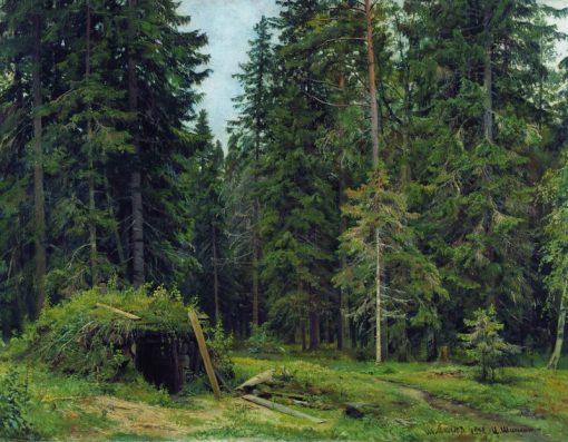 A Forest Hut | Ivan Ivanovich Shishkin | Oil Painting