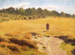 Boy in the Field | Ivan Ivanovich Shishkin | Oil Painting
