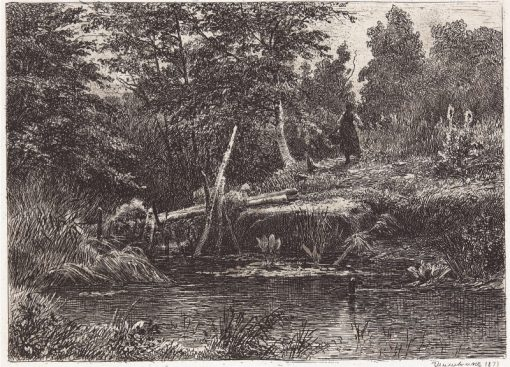A Small Bridge | Ivan Ivanovich Shishkin | Oil Painting