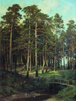 Bridge in the Forest | Ivan Ivanovich Shishkin | Oil Painting