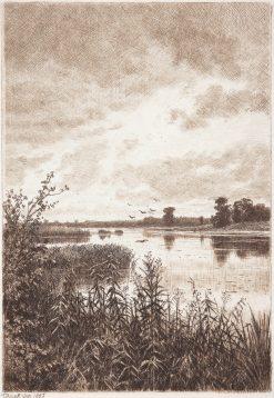 River Landscape after the Rain | Ivan Ivanovich Shishkin | Oil Painting