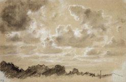 Clouds (study) | Ivan Ivanovich Shishkin | Oil Painting