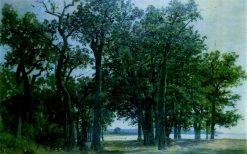 The Edge of an Oak Grove | Ivan Ivanovich Shishkin | Oil Painting