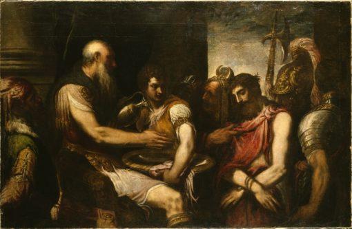 Christ before Pilate | Andrea Schiavone | Oil Painting