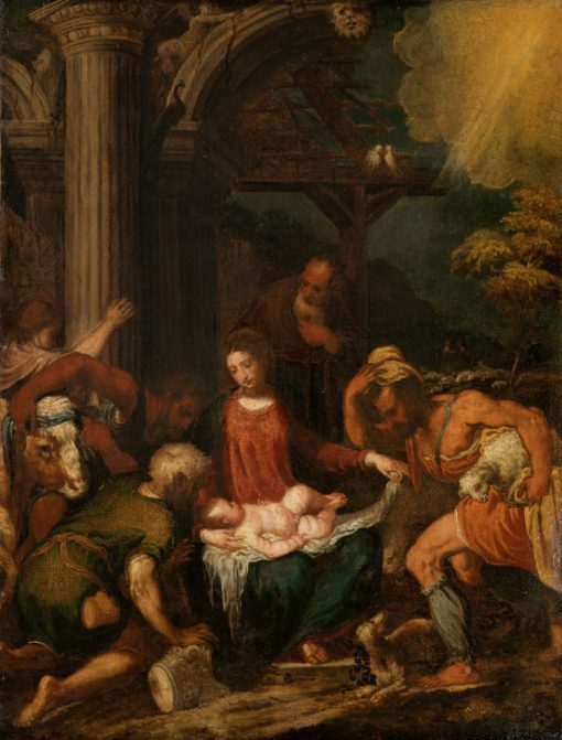 Adoration of the Shepherds | Andrea Schiavone | Oil Painting