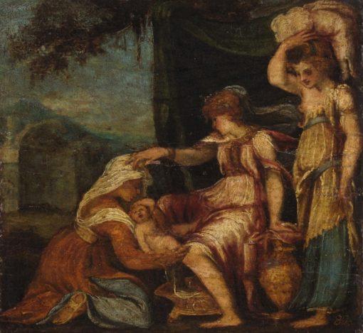 Birth of Jupiter | Andrea Schiavone | Oil Painting