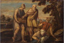 Marius Curius Dentatus | Andrea Schiavone | Oil Painting