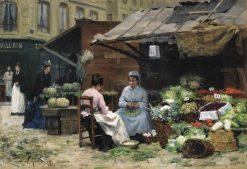 Jeunes Femmes aux Marche | Victor Gabriel Gilbert | Oil Painting