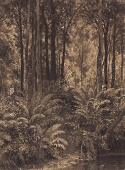 Ferns in the Forest | Ivan Ivanovich Shishkin | Oil Painting