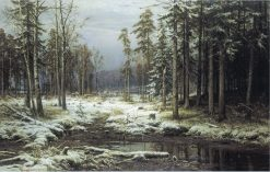 First Snow | Ivan Ivanovich Shishkin | Oil Painting