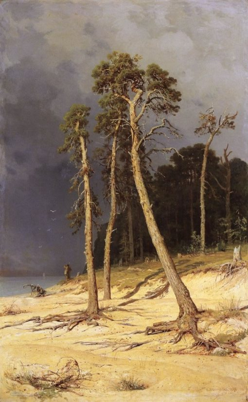 Sandy Shore | Ivan Ivanovich Shishkin | Oil Painting
