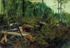 Wood Cutting | Ivan Ivanovich Shishkin | Oil Painting