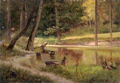 A Pond | Ivan Ivanovich Shishkin | Oil Painting