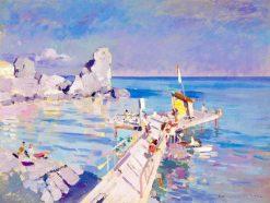 A Pier in Gurzuf | Constantin Alexeevich Korovin | Oil Painting