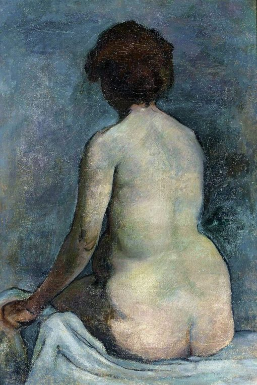 Female nude from the back | Wladyslaw Slewinski | Oil Painting