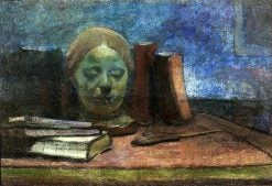 Mask and books | Wladyslaw Slewinski | Oil Painting