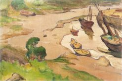 Low tide in Pont-Aven | Wladyslaw Slewinski | Oil Painting