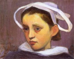 Head of a Breton Woman from Quimperle | Wladyslaw Slewinski | Oil Painting