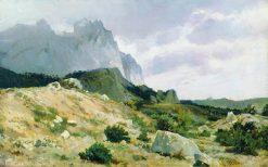 A Rocky Shore | Ivan Ivanovich Shishkin | Oil Painting