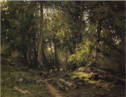 Cows in the Wood | Ivan Ivanovich Shishkin | Oil Painting