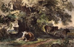 Cows Resting | Ivan Ivanovich Shishkin | Oil Painting