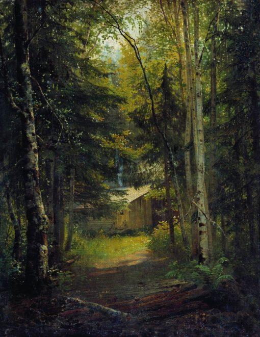 A Hut in the Woods | Ivan Ivanovich Shishkin | Oil Painting