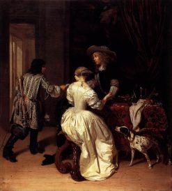 The Messenger   Jan Verkolje   Oil Painting