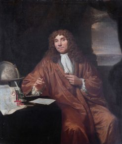 Antonie van Leeuwenhoek   Jan Verkolje   Oil Painting