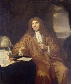 Anthonie van Leeuwenhoek   Jan Verkolje   Oil Painting
