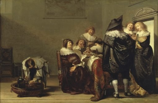 Company Making Music | Pieter Codde | Oil Painting