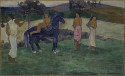 Composition with Figures and a Horse | Paul Gauguin | Oil Painting