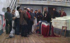 Burial at Sea | Carl Sundt-Hansen | Oil Painting