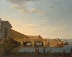 Neva gate of Peter and Paul Fortress   Benjamin Patersen   Oil Painting