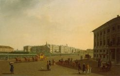 View of Palace Square and Winter Palace from the beginning of Nevsky Prospect | Benjamin Patersen | Oil Painting