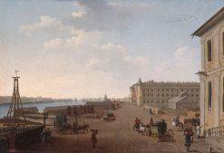 Embankment of Vasilyevsky Island near the Academy of Arts   Benjamin Patersen   Oil Painting