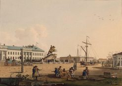 Senate Square with Monument of Peter the Great | Benjamin Patersen | Oil Painting