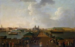 View of Saint Petersburg in the centenary celebrations day | Benjamin Patersen | Oil Painting