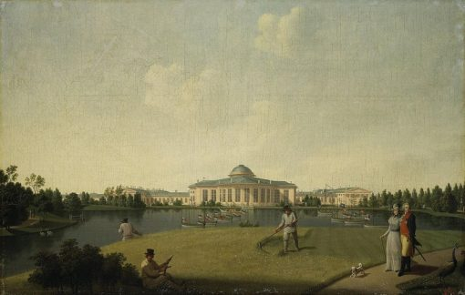 View of the Tauride Palace from the Garden side | Benjamin Patersen | Oil Painting