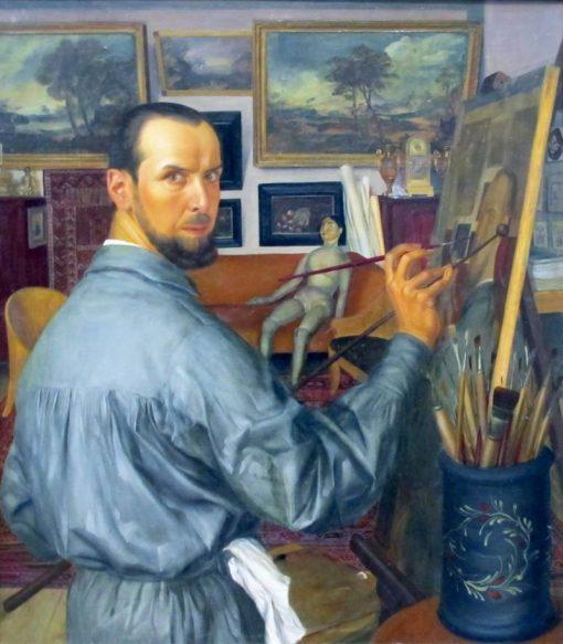 Self Portrait   Alexander Evgenievich Yakovlev   Oil Painting