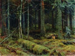 Dark Forest | Ivan Ivanovich Shishkin | Oil Painting